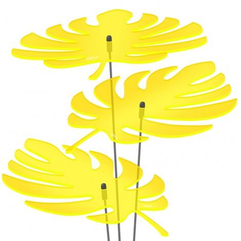 Palmenblätter 3x 20cm Gelb