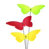 FARBMIX 6 Stück SUNPLAY Sonnenfänger Ø20cm Suncatcher Gartenstecker Schmetterl