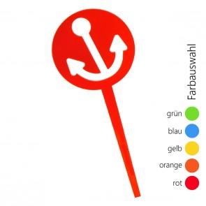SUNPLAY Blumenstecker Anker - Farbe wählbar