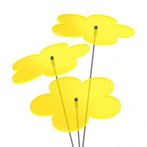 Blumen 3x 10cm Gelb