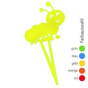 SUNPLAY Blumenstecker Raupe - Farbe wählbar