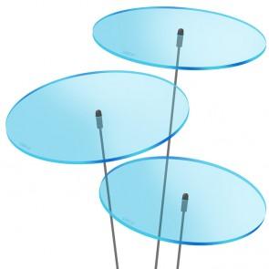 SUNPLAY SUNPLAY Scheiben 3 x Ø 20 cm | blau