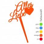 SUNPLAY Blumenstecker Alles Liebe - Farbe wählbar
