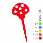 SUNPLAY Blumenstecker Fliegenpilz - Farbe wählbar
