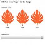 Palmenblätter 3x 20cm Orange