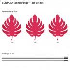 Palmenblätter 3x 20cm Rot