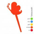 SUNPLAY Blumenstecker verspielter Schmetterling - Farbe wählbar