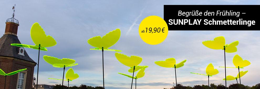 Sunplay Sonnenfänger Schmetterlinge gelb